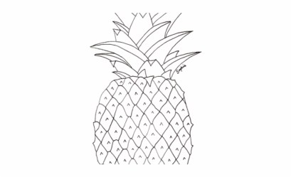 Drawn Pineapple Transparent Pineapple Pictures To Colour Transparent PNG Download #2347064 Vippng