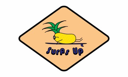 Surfing Pineapple Logo Pineapple Transparent PNG Download #2347289 Vippng