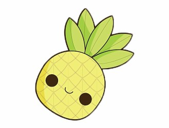 Cute Pineapple Drawing Png Download Cute Easy Pineapple Drawing Transparent PNG Download #314695 Vippng