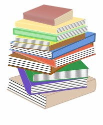 Books Stacked Pile Stacks Png Image Cartoon Books And Paper Transparent PNG Download #59510 Vippng