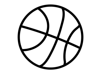 Basketball Black And White Clipart Free Transparent Black And White Basket Ball Clip Art Transparent PNG Download #5500511 Vippng