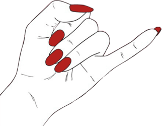 nails clipart png Hand Tumblr Grunge Edgy Aesthetic Black Ⓒ Best Friends Hands Png #2338419 Vippng