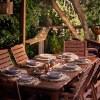 outdoor dinner setting