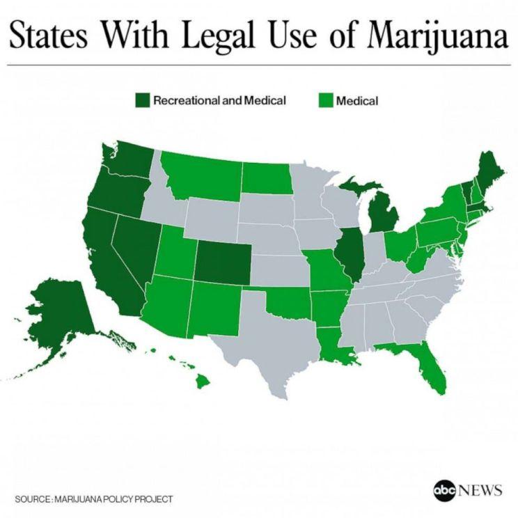 Щати легализирали канабиса