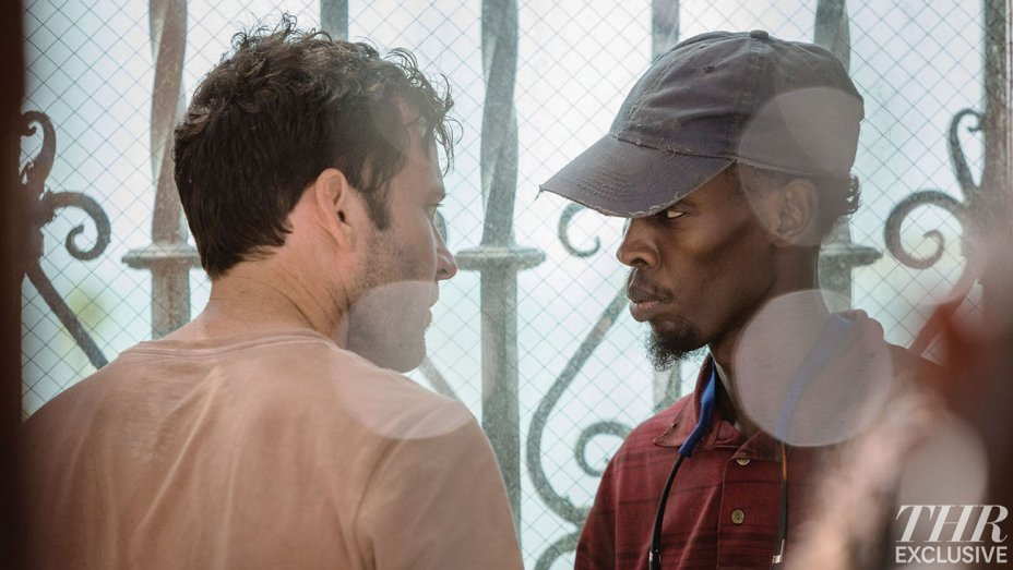 AFM First Look: Eion Bailey Sizes Up Barkhad Abdi in 'Extortion' (Exclusive)