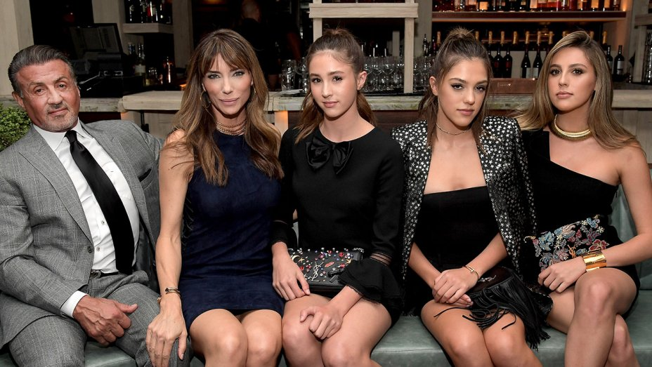 Hollywood Stars Toast the Stallone Family at HFPA's Miss Golden Globe Party