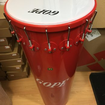 """Gope Timbal, Aluminum, 16 lugs """"Dida"""" red"""