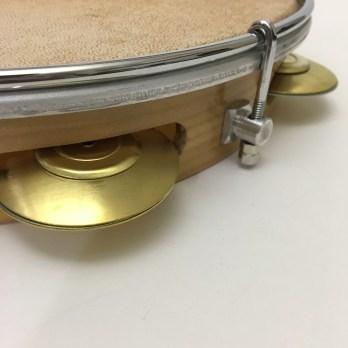 "Gope 10"" pandeiro, wood shell, skin head, brass"