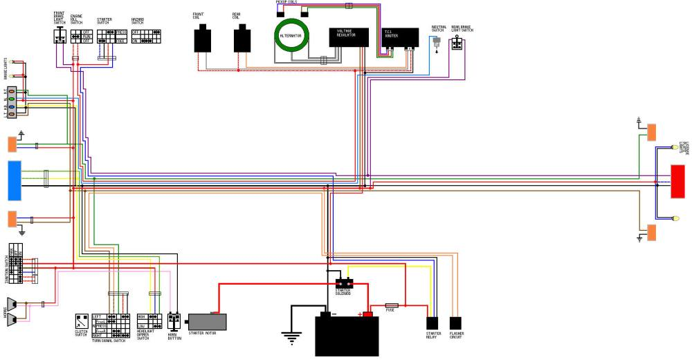 medium resolution of 81 virago 750 wiring diagram