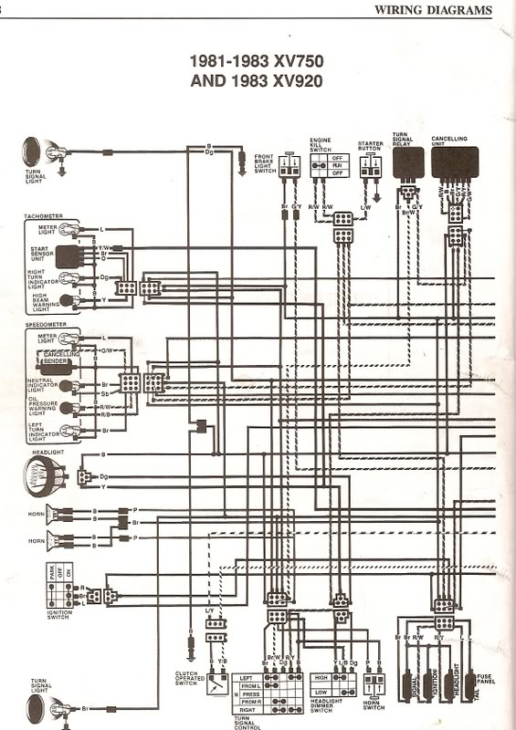 1982 virago 920 wiring diagram wiring diagram