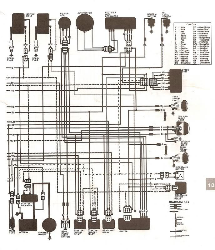 1997 Yamaha Virago 750 Wiring Diagram