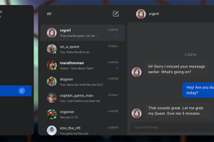 Oculus friends lists now has text chat … if you link account to Facebook