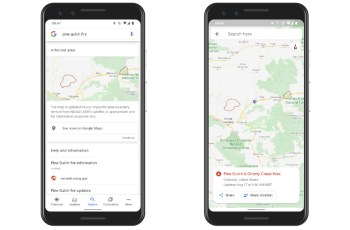 Google is using satellite imagery and Maps to visualize wildfire size and behavior