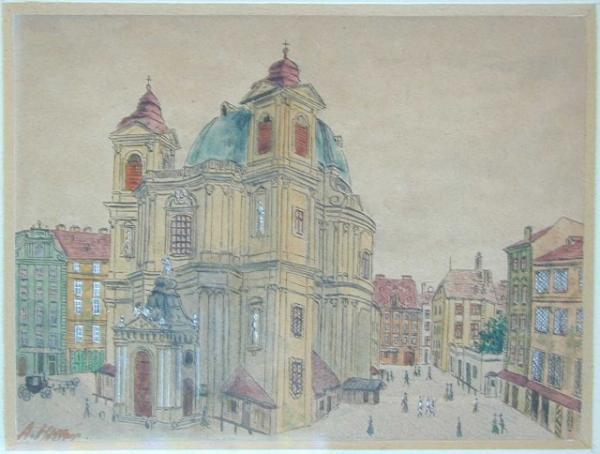 25幅風格清新的畫作,畫家竟是希特勒!