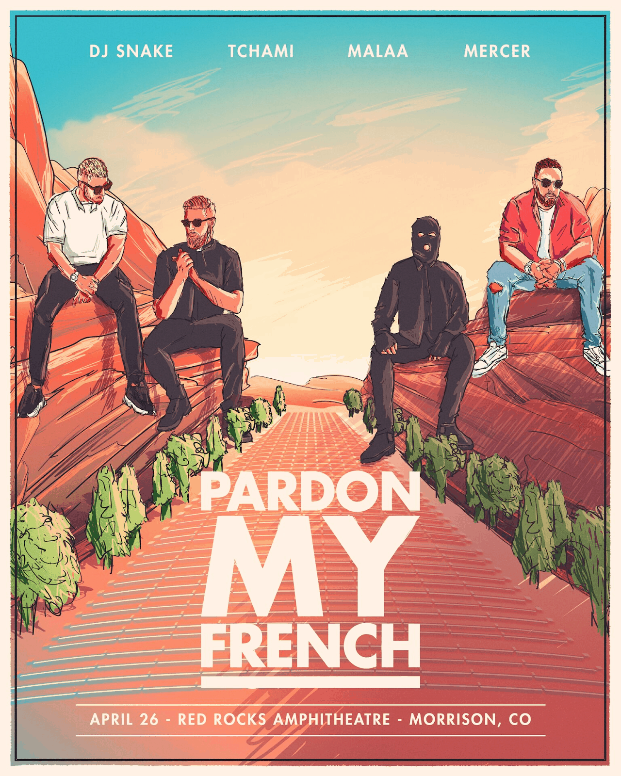Pardon My French Announce Red Rocks
