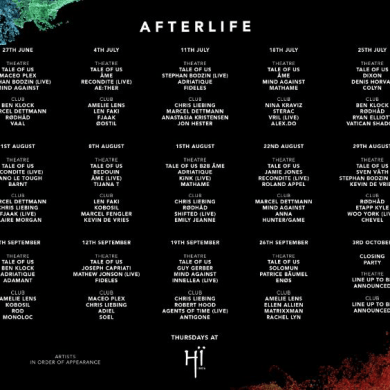 Afterlife Full Ibiza 2019 Line Up