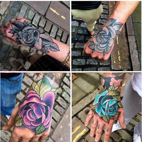 Tatuajes De Rosa De La Mano