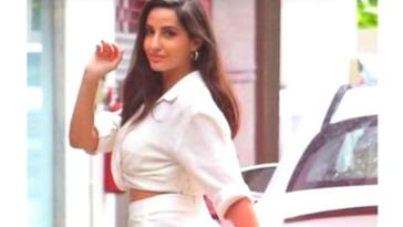 Nora Fatehi sizzles in white dress