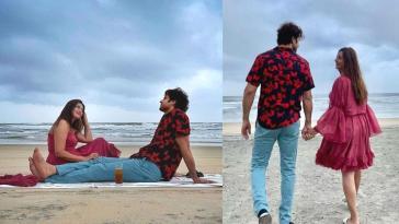 Divyanka Tripathi and Vivek Dahiya Celebrated reunion on beach see pics