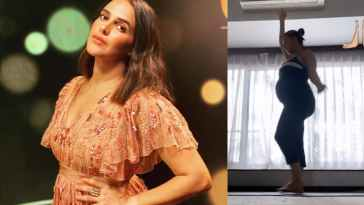 Mom-to-be Neha Dhupia does prenatal yoga, Advocates Staying Fit In New Video