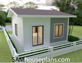 Simple Yet Affordable One Story Two Bedroom House