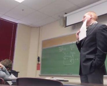 Look Professor A Victim Of A Prank!