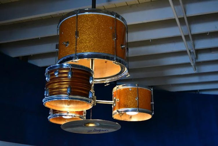 22. Drum Kit Turned Into Chandelier