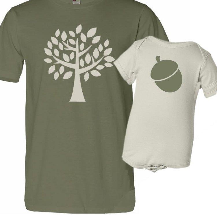 Tree and Acorn