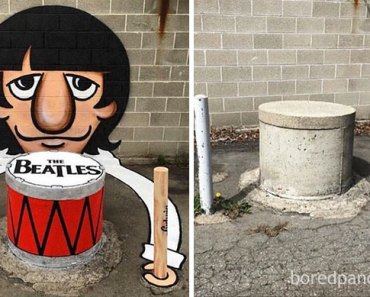 30 Incredible Before & After Street Art Transformations Of Empty Walls