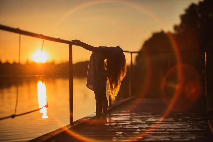 Child In Sunset