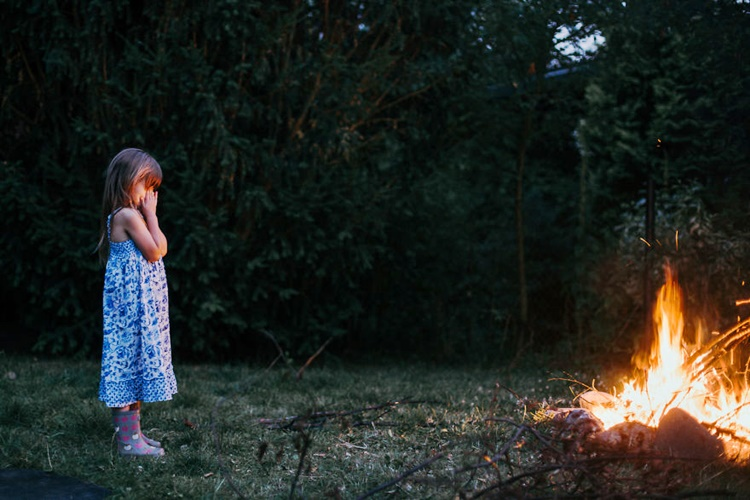 Girl watches Fire