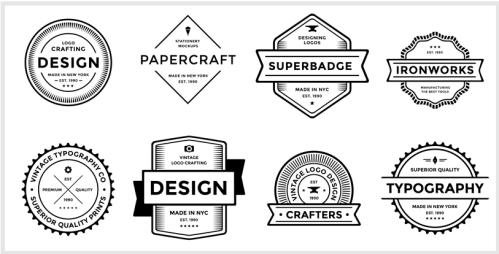 Badge logo template, how to make a logo