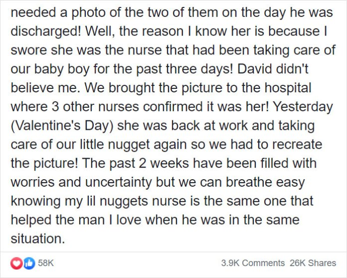 Mother Sees A Photo from When Her Husband Was A Baby In The Hospital, Realizes The Same Nurse Took Care Of Their Baby