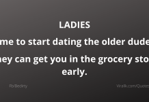 Time to start dating the older dudes.