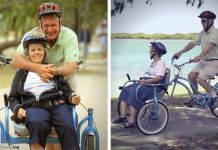 "Husband Builds A ""Bike Chair"" So He Can Take His Alzheimer's-Stricken Wife For Rides Around The Neighborhood"