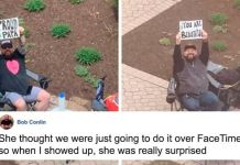 Husband Sets Up Weekly Date Nights Outside Hospital Window As His Wife Waits To Give Birth
