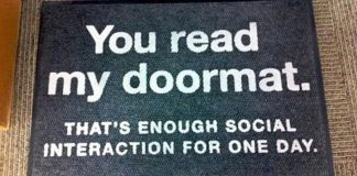 Perfect Doormats For Social Isolation