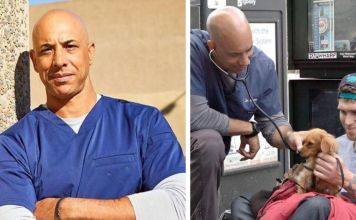Veterinarian Who Walks Around California And Treats Homeless People's Animals For Free Stewart Kwane