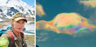 Bizarre Iridescent Clouds Over Siberia