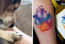 Awesome dog paw tattoos