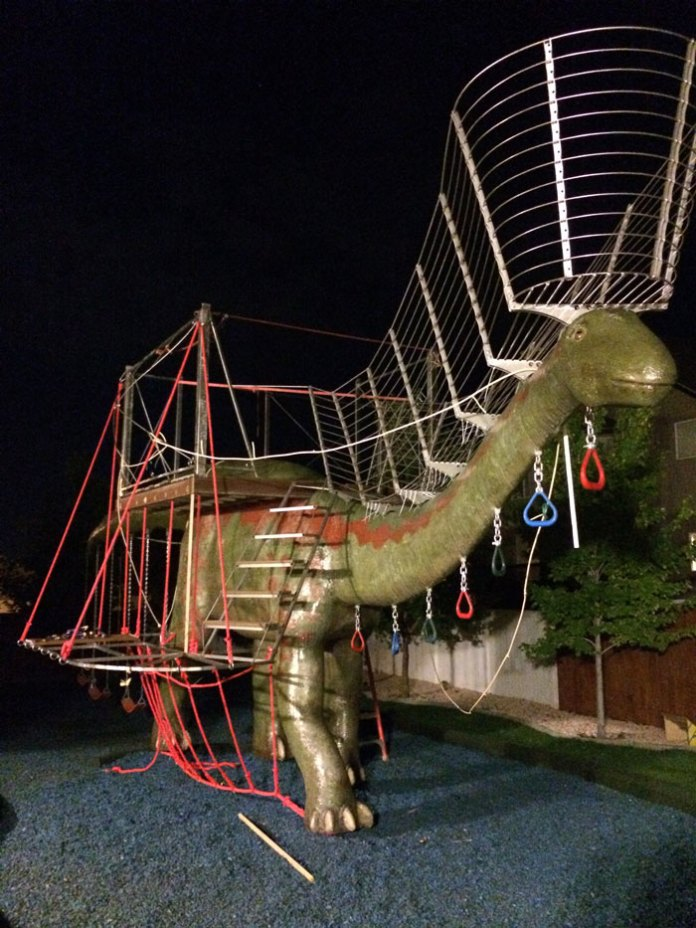 Dad Build Epic Dinosaur Playground For His Kids