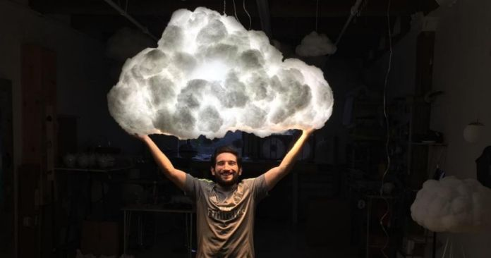 Cloud Lamp Will Bring A Thunderstorm Into Your Living Room