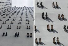 Women's Shoes Hung On Wall in Turkey to Commemorate 440 Women Killed by Their Own Husbands