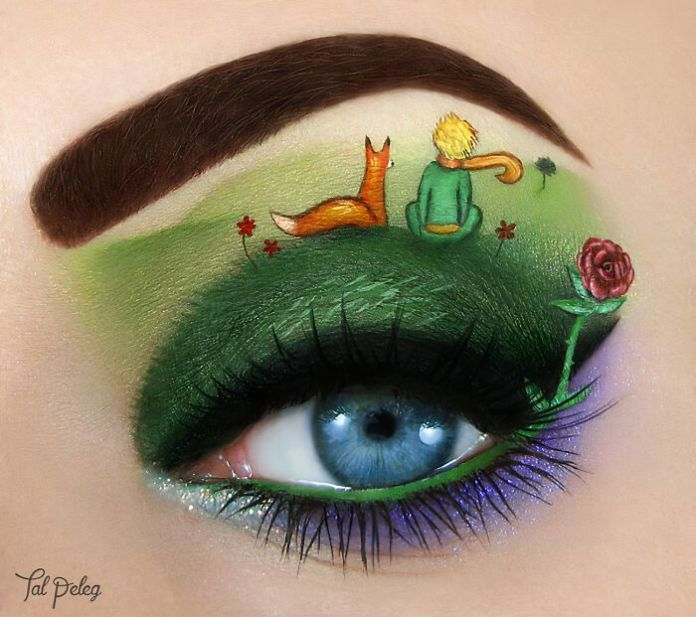 Artist Creates Magical Scenes Using Her Eyelids As A Canvas