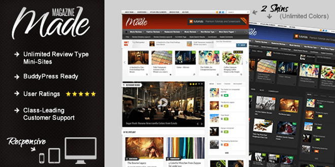 Made – Responsive Review/Magazine Theme – Review