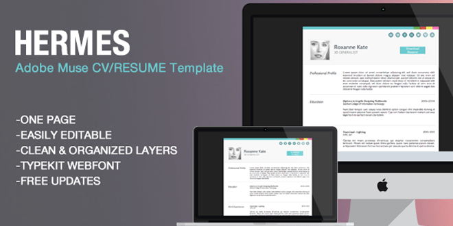 Hermes adobe muse resumecv template free download viral media hermes adobe muse cv resume template free download yelopaper Choice Image