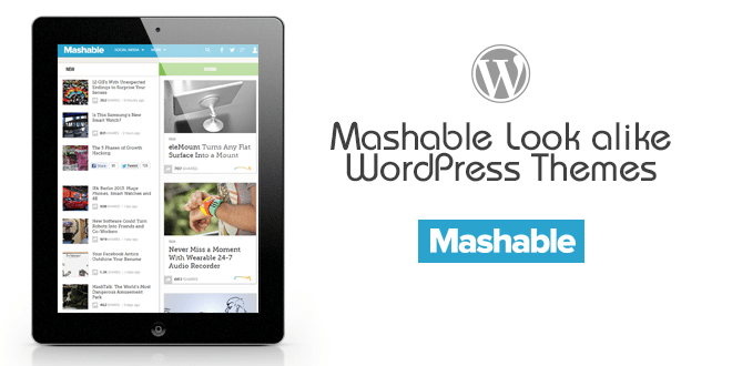 Mashable Look alike WordPress Themes
