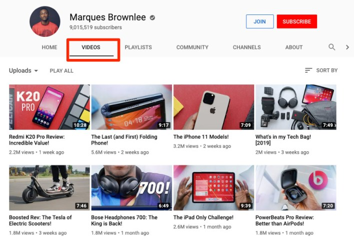 ابحث عن قناة منافسة و انظر الى فيديوهاتها