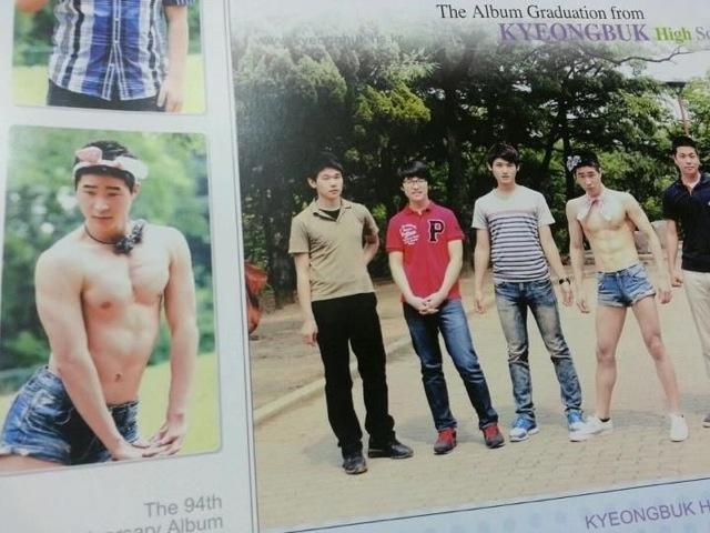 4 dudes op jaarboek foto's