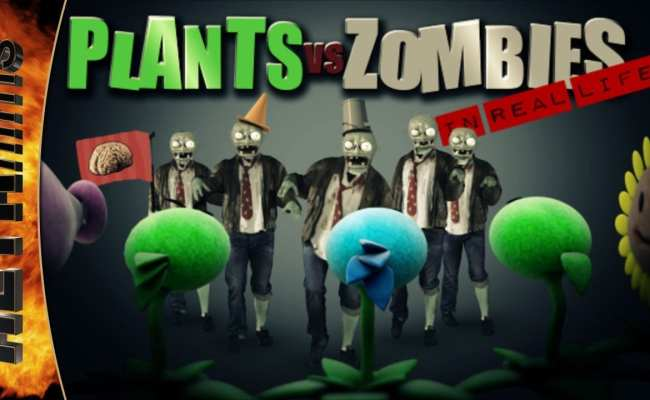 Gif Plants Vs Zombies In Real Life Viral Viral Videos